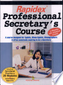 """""""Rapidex Professional Secretary Course"""" by Pustal Mahal group"""