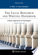 The Legal Research and Writing Handbook