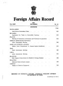 Foreign Affairs Record Book