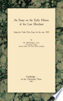 An Essay on the Early History of the Law Merchant Pdf/ePub eBook