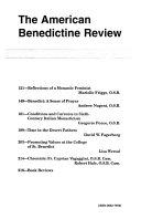 The American Benedictine Review