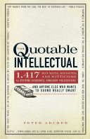 Pdf The Quotable Intellectual