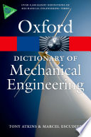 A Dictionary Of Mechanical Engineering Book PDF