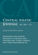 Migration And Nation Building In Central And Western Asia