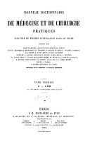 Nouveau Dictionnaire de médecine et de chirurgie pratiques illustré de figures intercalées dans le texte