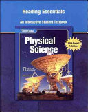 Glencoe Physical iScience  Grade 8  Reading Essentials  Student Edition
