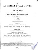The Literary Gazette and Journal of the Belles Lettres  Arts  Sciences   c Book