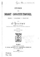 Études de droit constitutionnel