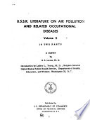 Survey of U S S R  Literature on Air Pollution and Related Occupational Diseases