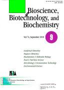 Bioscience  Biotechnology  and Biochemistry