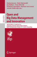 Open and Big Data Management and Innovation