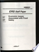 Economic Issues Associated with Food Safety Book