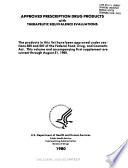 Approved prescription drug products with therapeutic equivalence evaluations  1980 Book