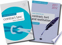 Contract Law + Core Statutes on Contract, Tort and Restitution 2011-12 Value Pack