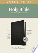 NLT Large Print Thinline Reference Bible  Filament Enabled Edition  Red Letter  Leatherlike  Black  Indexed