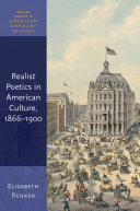 Realist Poetics in American Culture, 1866-1900
