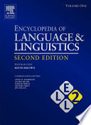 Encyclopedia Of Language And Linguistics