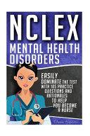 Nclex - Mental Health Disorders