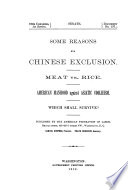 Some Reasons for Chinese Exclusion Book PDF