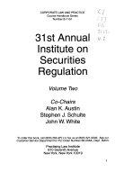 Annual Institute on Securities Regulation