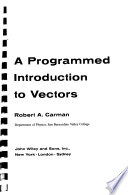A programmed introduction to vectors