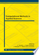 Computational Methods in Applied Sciences