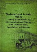 Modern Greek in Asia Minor Pdf/ePub eBook