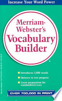 Merriam Webster s Vocabulary Builder Book