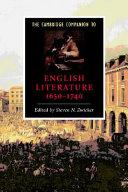 The Cambridge Companion to English Literature, 1650-1740