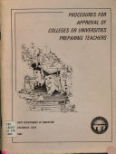 Procedures for Approval of Colleges Or Universities Preparing Teachers
