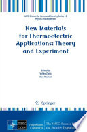 New Materials for Thermoelectric Applications  Theory and Experiment