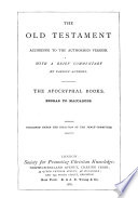 The Old Testament ; According to the Authorized Version: The Pentateuch