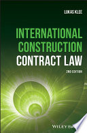 Book Cover: International Construction Contract Law