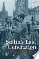 Stalin S Last Generation Book