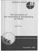 The Economics of the International Stockholding of Wheat