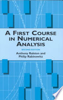A First Course In Numerical Analysis Book PDF