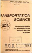 Transportation Science Book