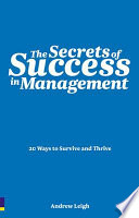 The Secrets of Success in Management Book