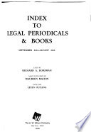 Index to Legal Periodicals & Books