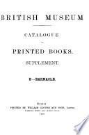 The British Museum Catalogue of Printed Books, 1881-1900