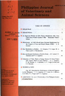 Philippine Journal Of Veterinary And Animal Sciences
