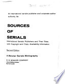 Sources of Serials