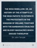 The Irish Rebellion