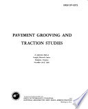 Pavement Grooving and Traction Studies Book
