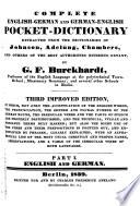 Complete English-German and German-English Pocket Dictionary