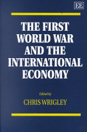 The First World War and the International Economy