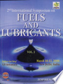 2nd International Symposium on Fuels and Lubricants  Vol I  Book