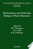 Biochemistry and Molecular Biology of Plant Hormones