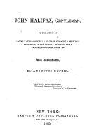 John Halifax, Gentleman ebook