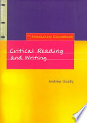 """""""Critical Reading and Writing: An Introductory Coursebook"""" by Andrew Goatly"""